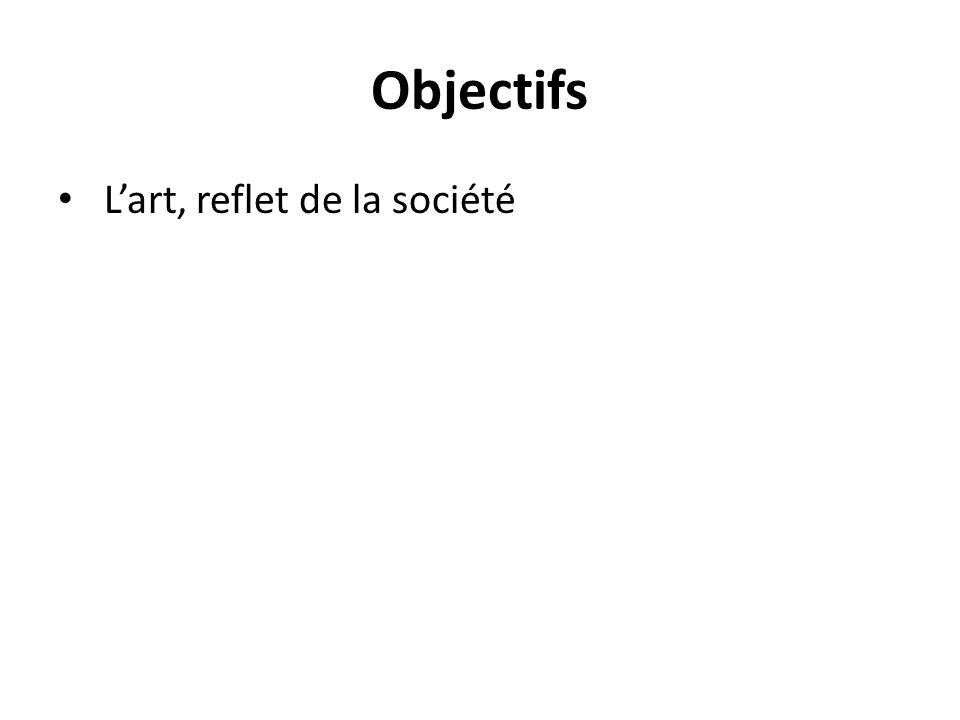 Objectifs L'art, reflet de la société