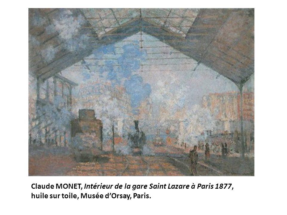 Claude MONET, Intérieur de la gare Saint Lazare à Paris 1877,