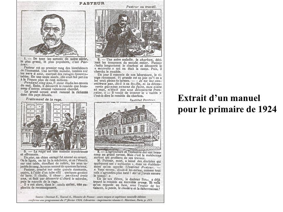 Extrait d'un manuel pour le primaire de 1924