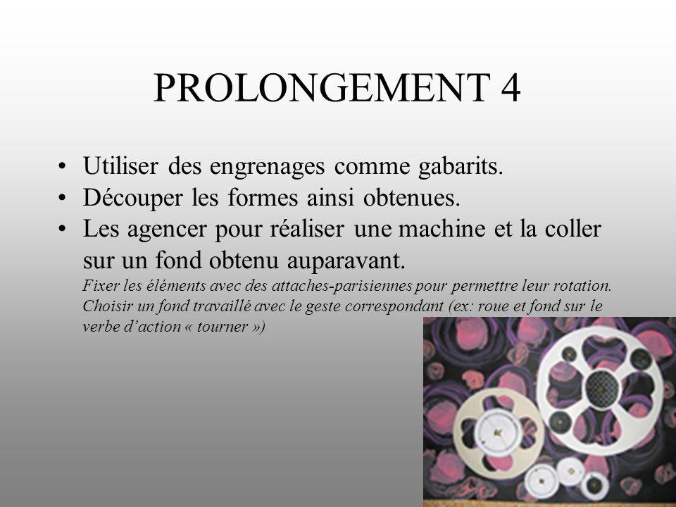 PROLONGEMENT 4 Utiliser des engrenages comme gabarits.
