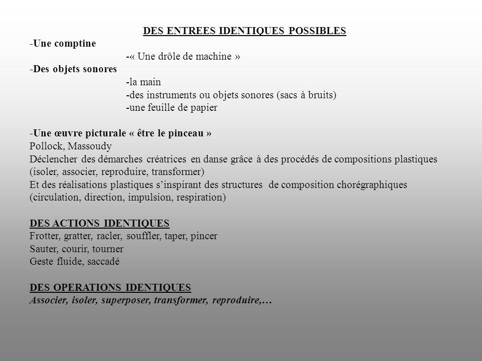 DES ENTREES IDENTIQUES POSSIBLES