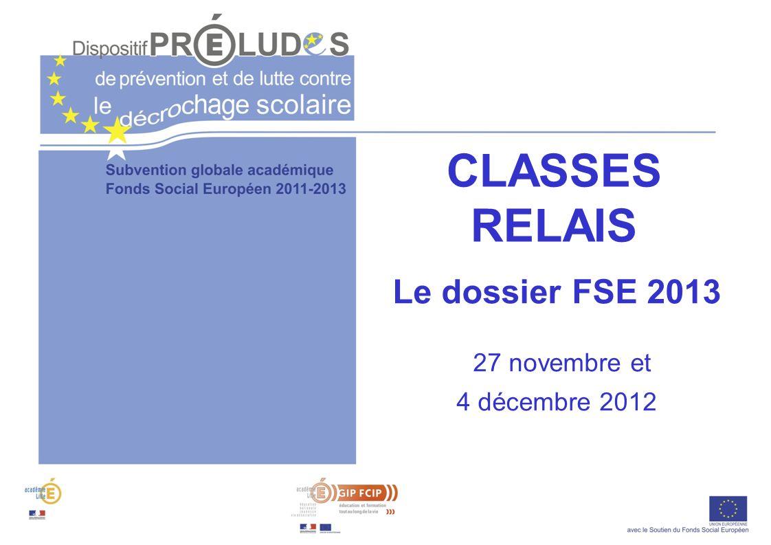Le dossier FSE 2013 27 novembre et 4 décembre 2012