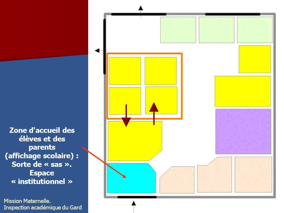 Zone d accueil des élèves et des parents Espace « institutionnel »