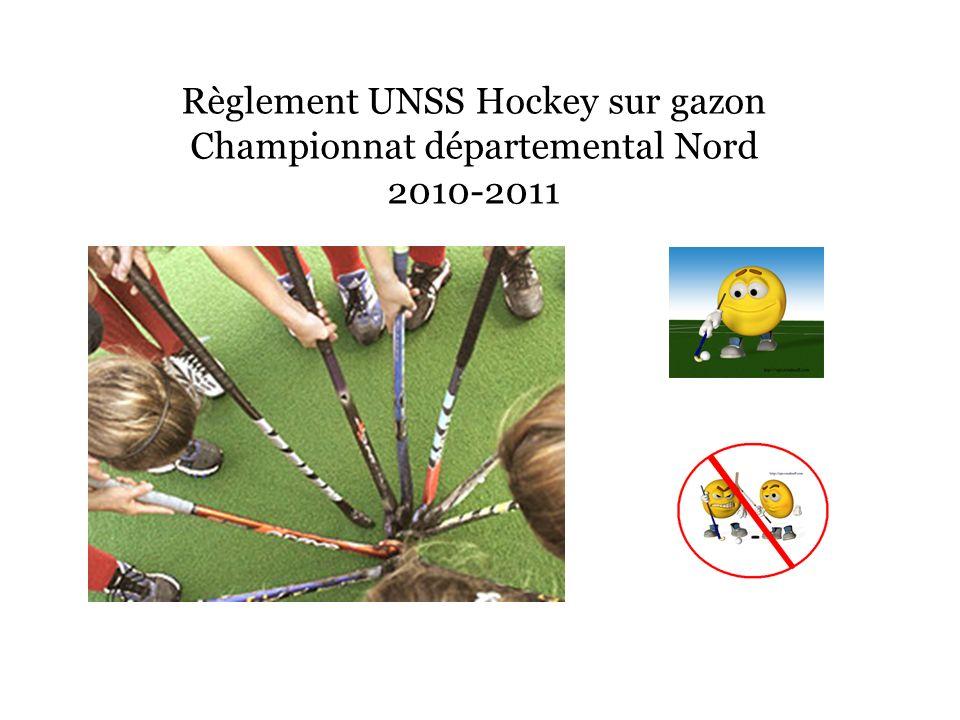 Règlement UNSS Hockey sur gazon Championnat départemental Nord