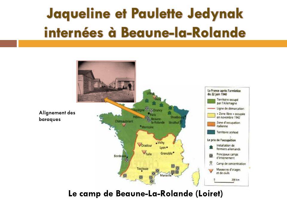 Jaqueline et Paulette Jedynak internées à Beaune-la-Rolande