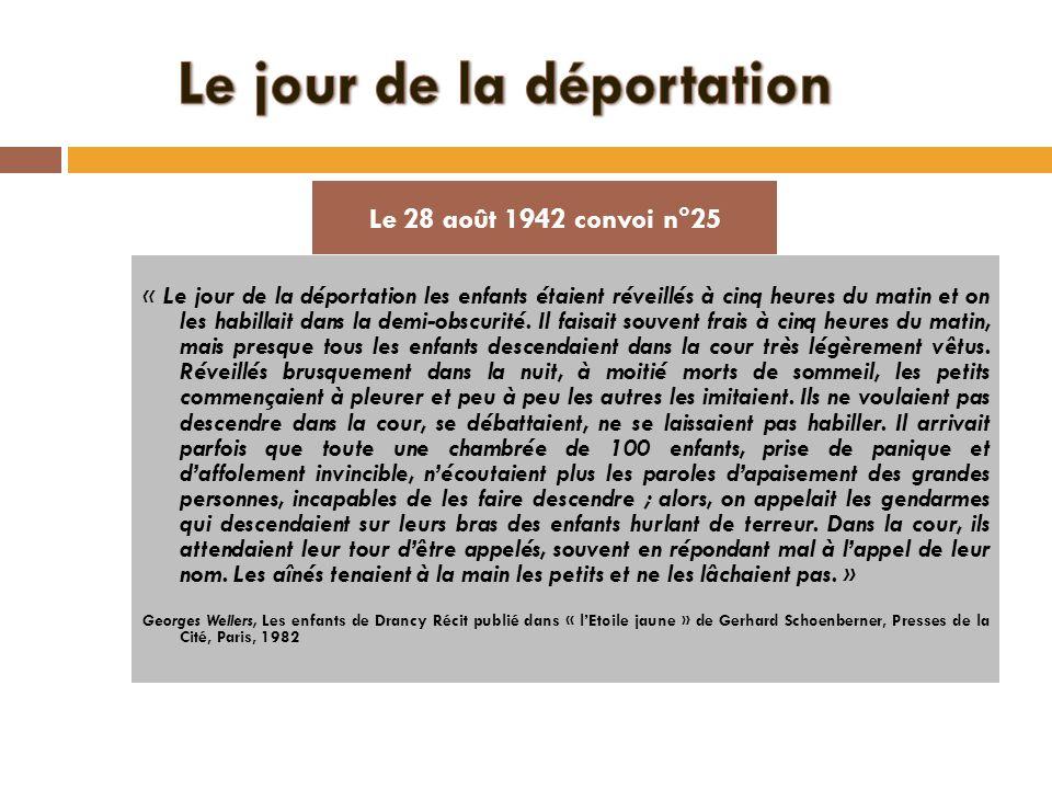 Le jour de la déportation
