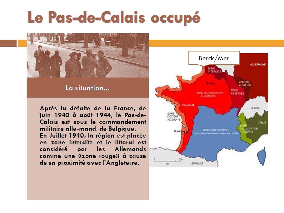 Le Pas-de-Calais occupé