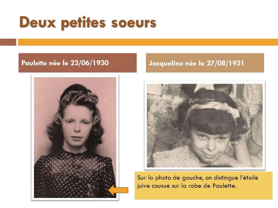 Deux petites soeurs Paulette née le 23/06/1930
