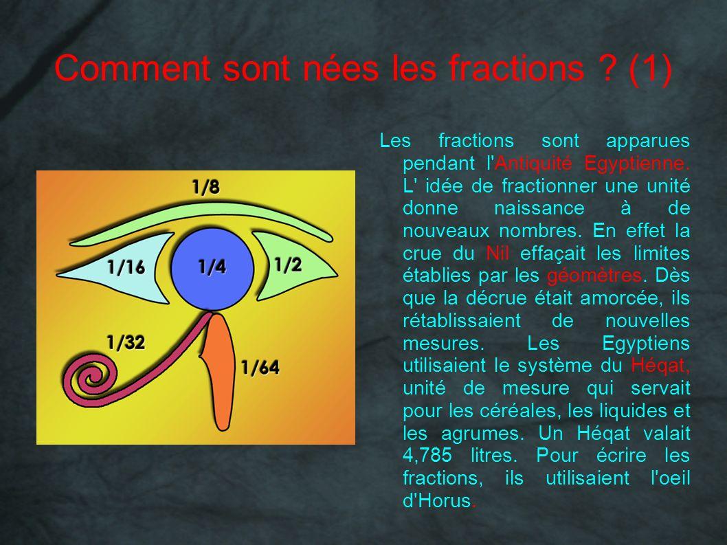 Comment sont nées les fractions (1)