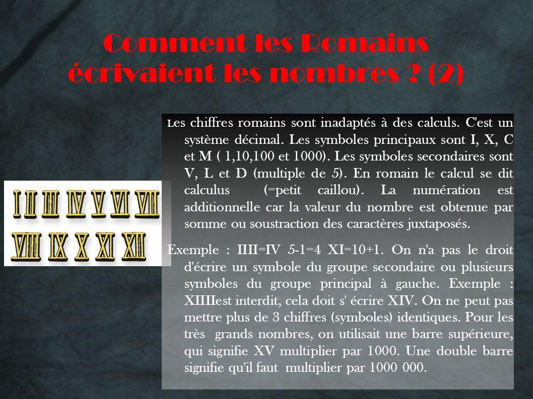 Comment les Romains écrivaient les nombres (2)