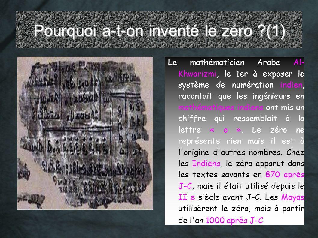 Pourquoi a-t-on inventé le zéro (1)