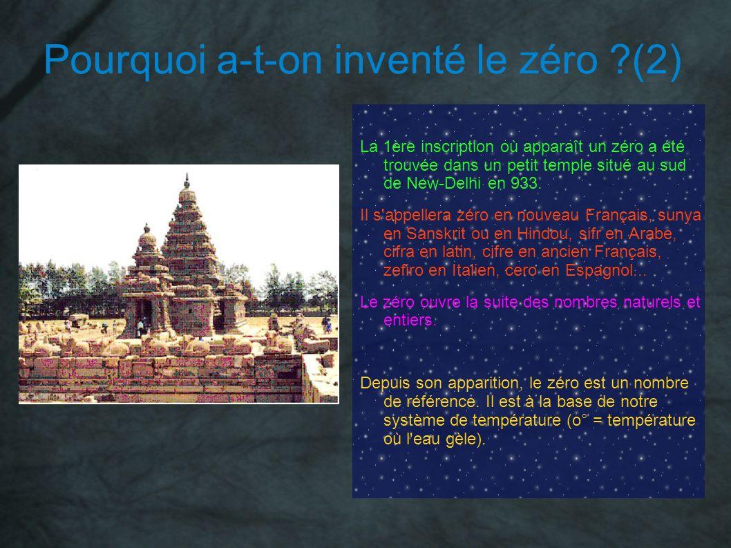 Pourquoi a-t-on inventé le zéro (2)
