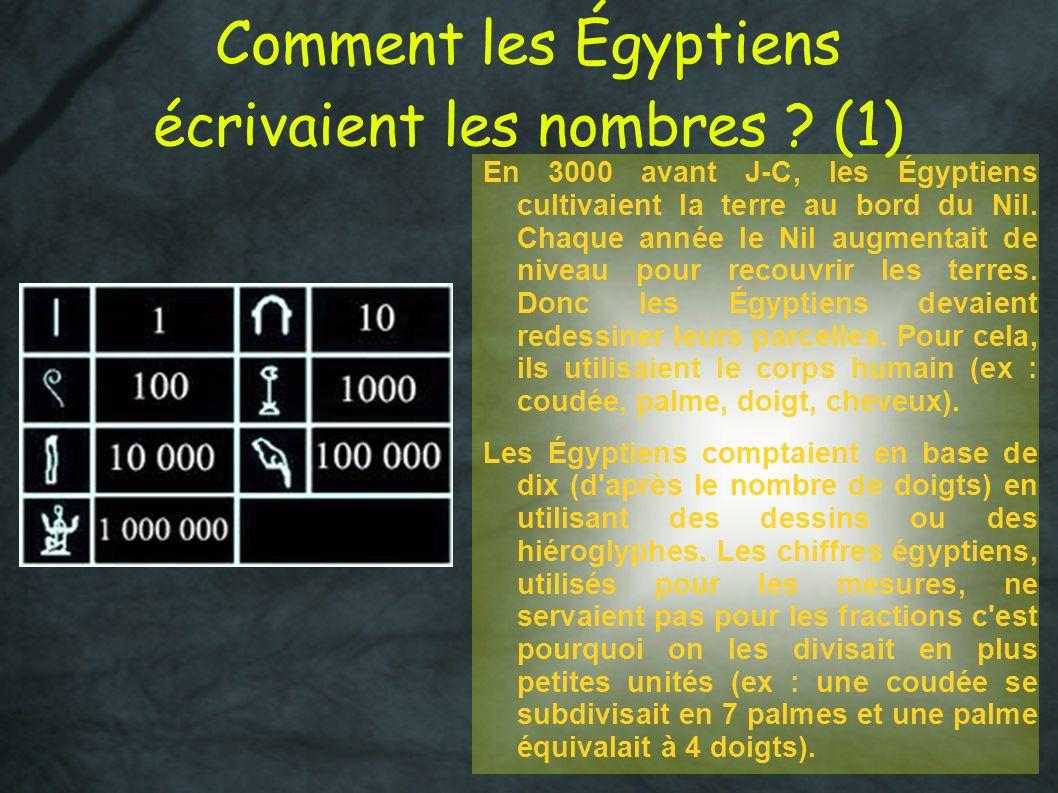 Comment les Égyptiens écrivaient les nombres (1)