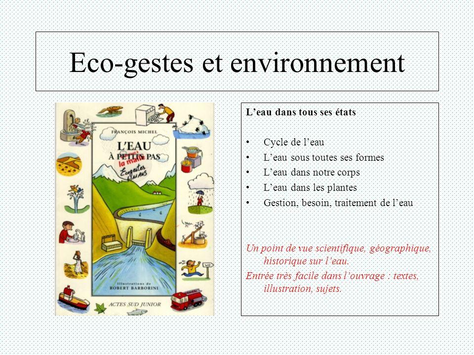 Eco-gestes et environnement