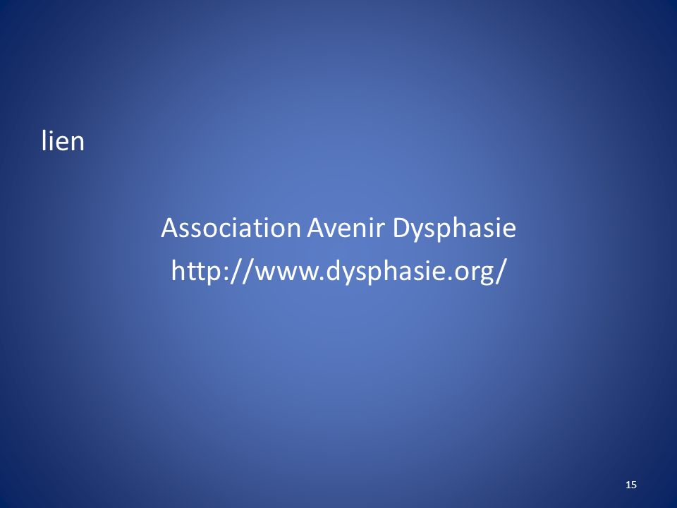 Association Avenir Dysphasie
