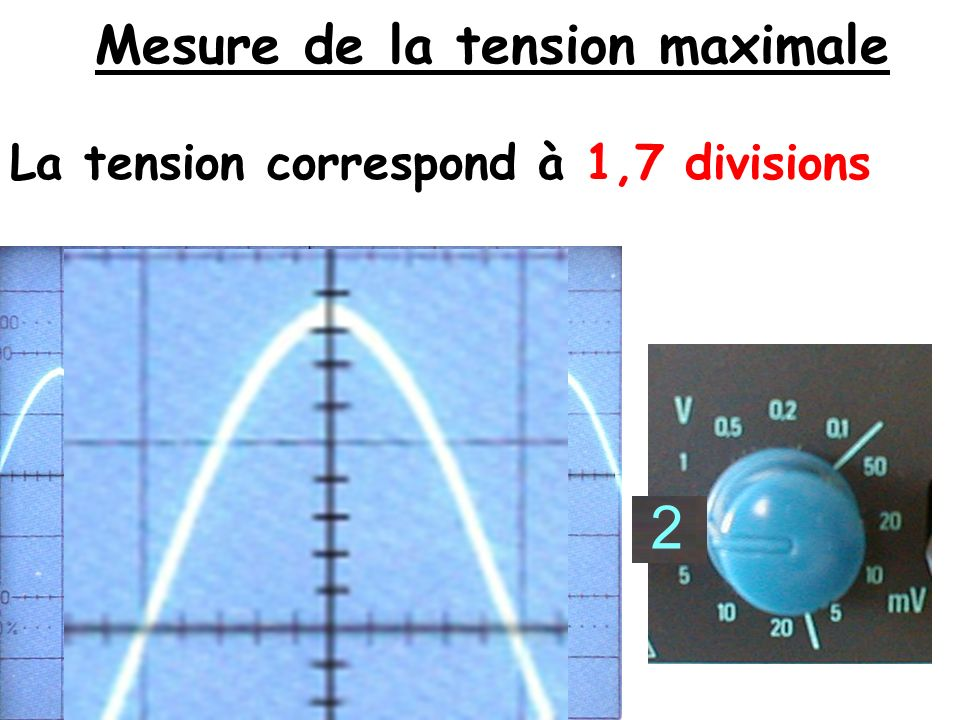 Mesure de la tension maximale