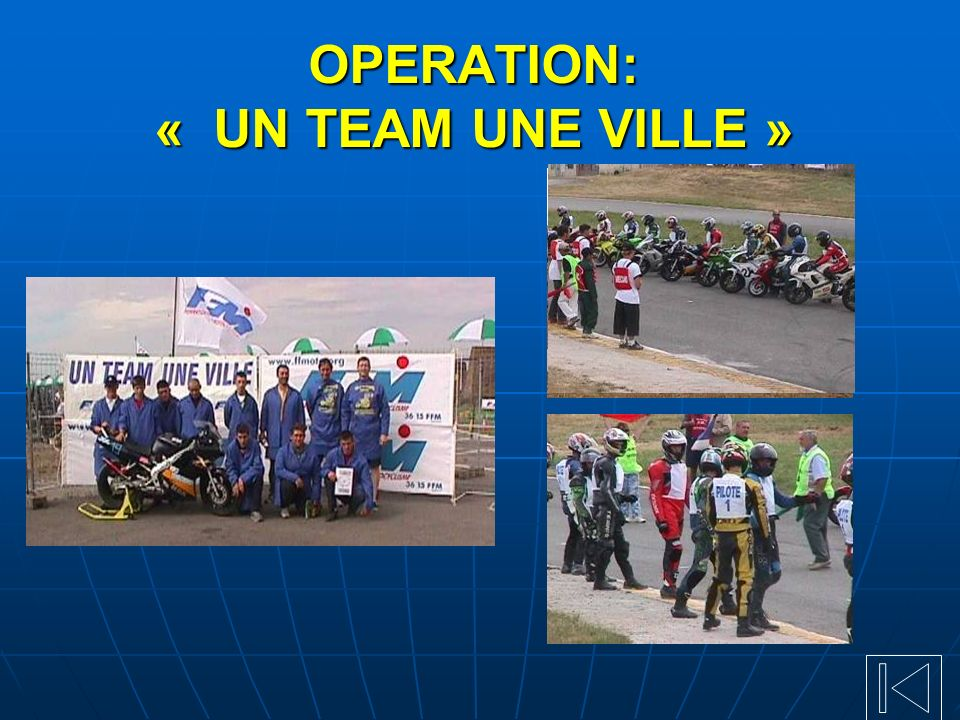 OPERATION: « UN TEAM UNE VILLE »