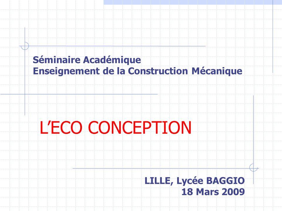 Séminaire Académique Enseignement de la Construction Mécanique