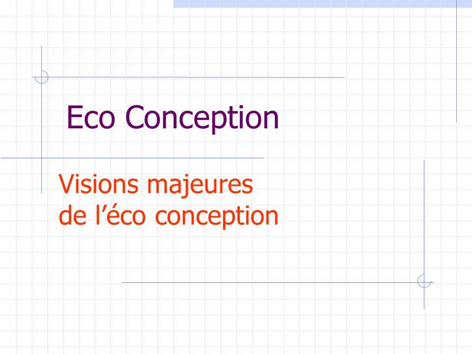 Visions majeures de l'éco conception