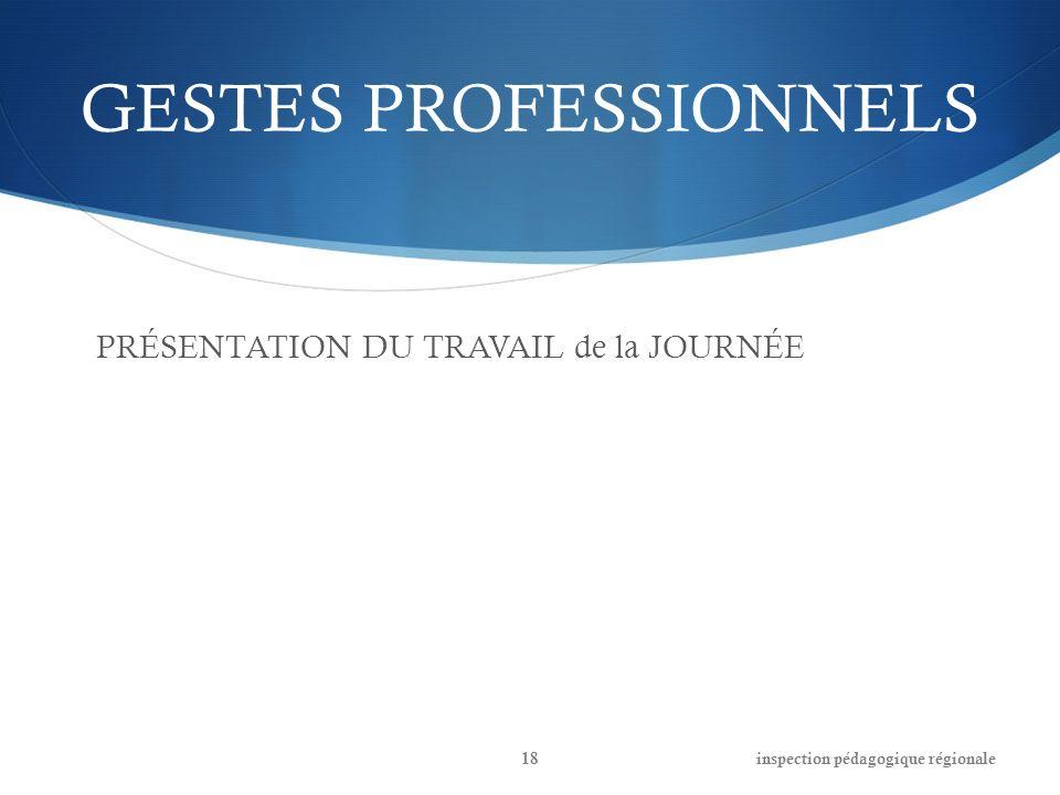 GESTES PROFESSIONNELS