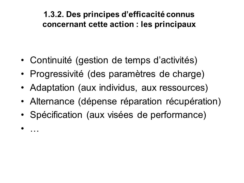 Continuité (gestion de temps d'activités)
