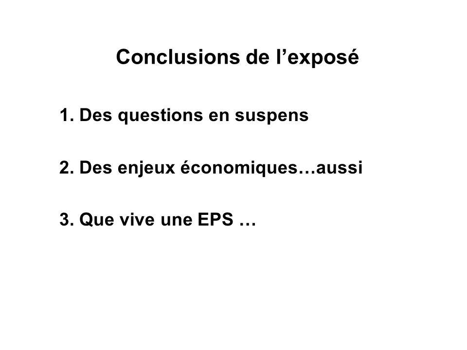 Conclusions de l'exposé