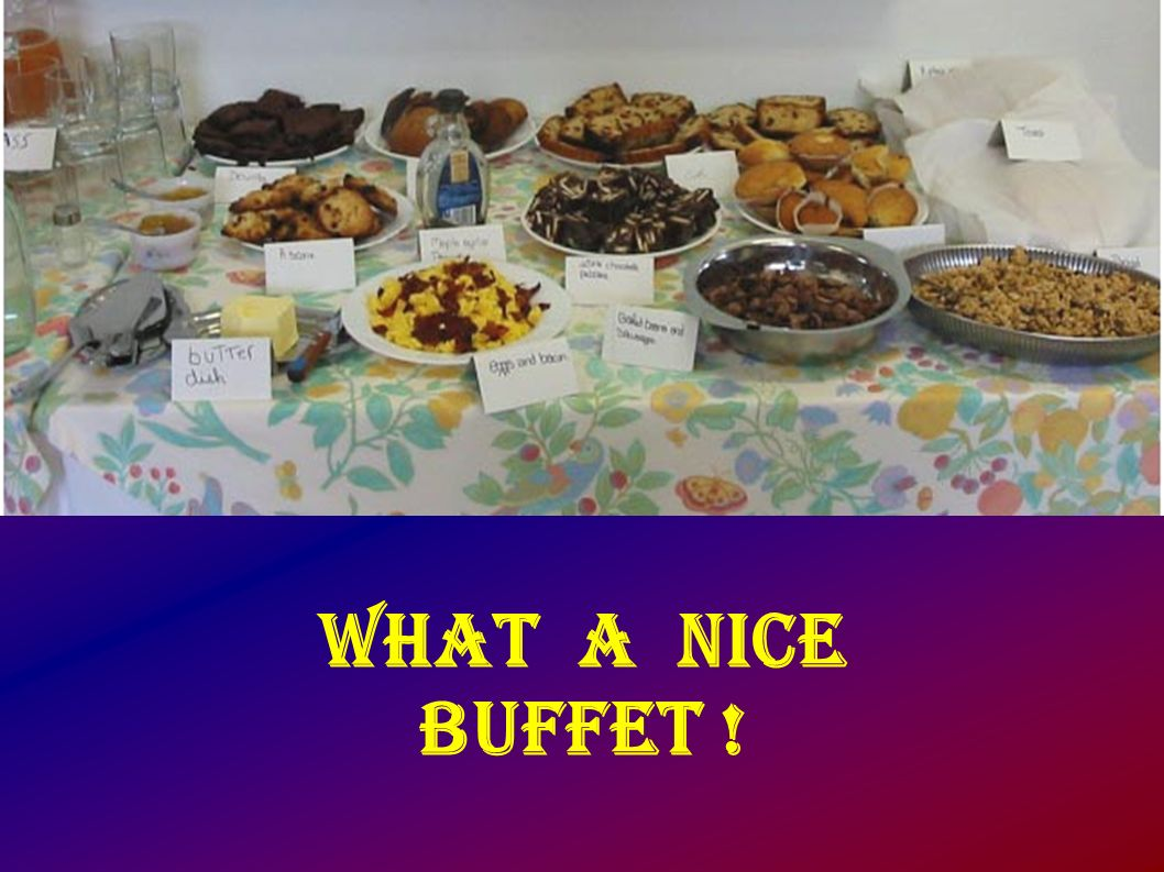 What a nice buffet !