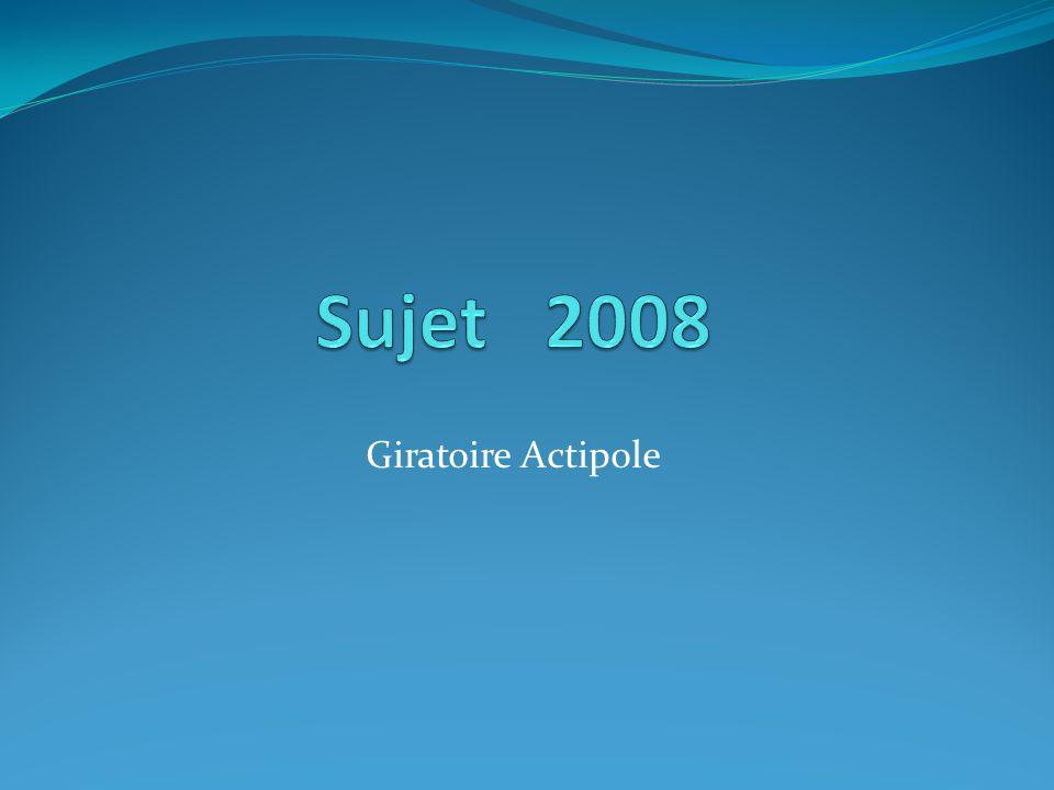 Sujet 2008 Giratoire Actipole