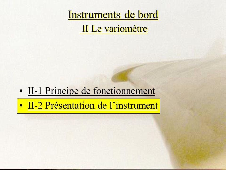 Instruments de bord II Le variomètre