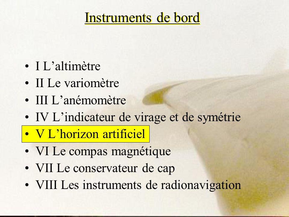 Instruments de bord I L'altimètre II Le variomètre III L'anémomètre