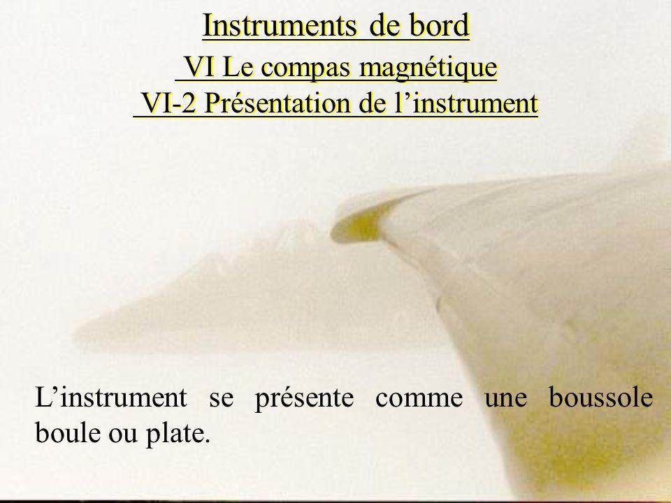 Instruments de bord VI Le compas magnétique VI-2 Présentation de l'instrument