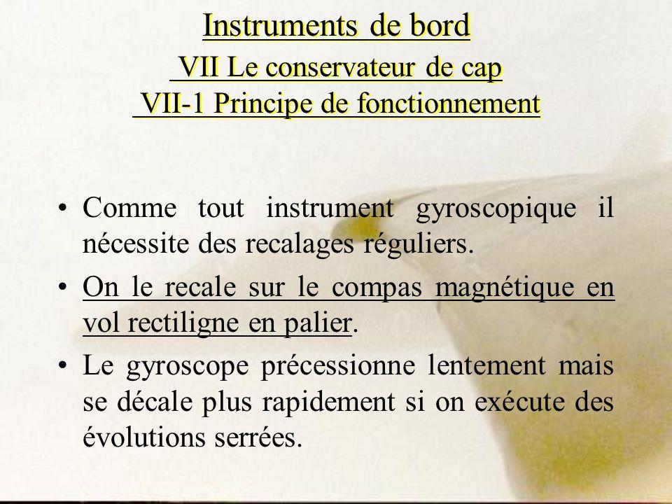 Instruments de bord VII Le conservateur de cap VII-1 Principe de fonctionnement