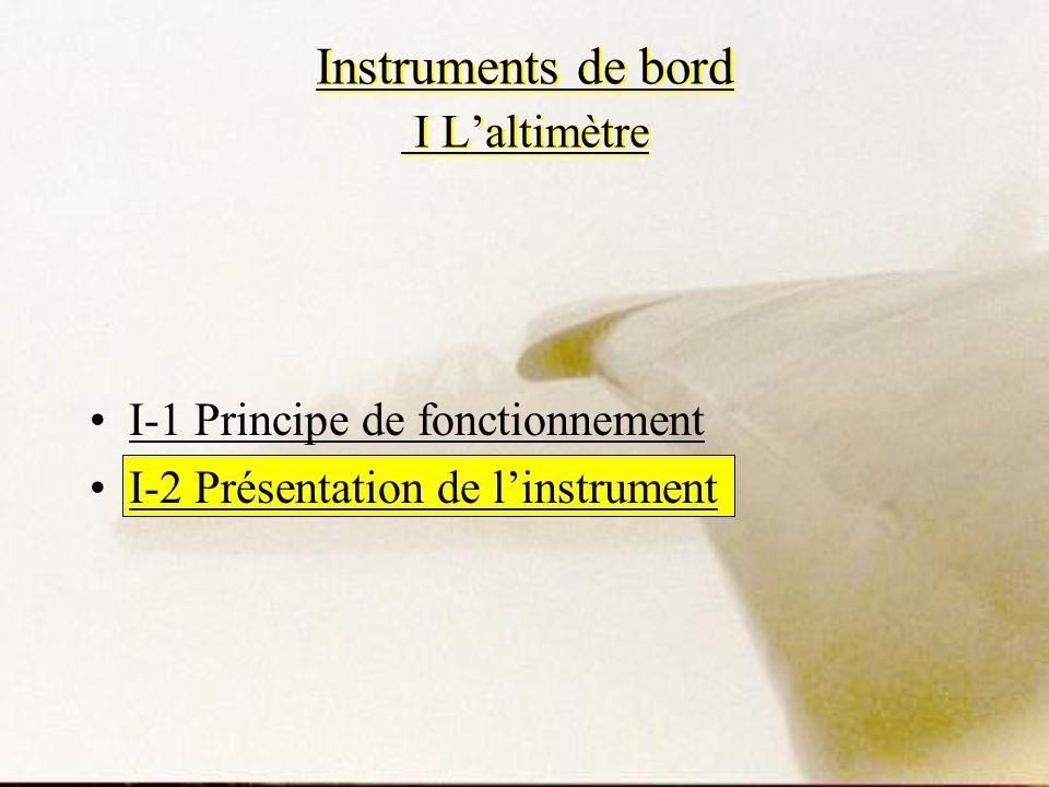 Instruments de bord I L'altimètre