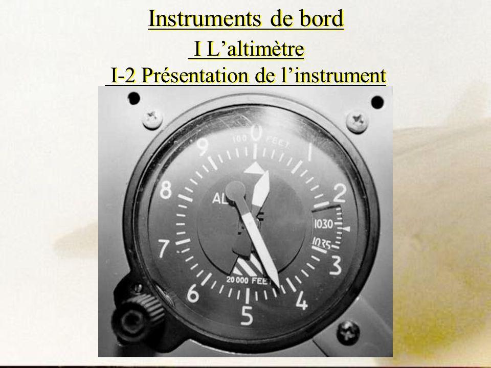 Instruments de bord I L'altimètre I-2 Présentation de l'instrument