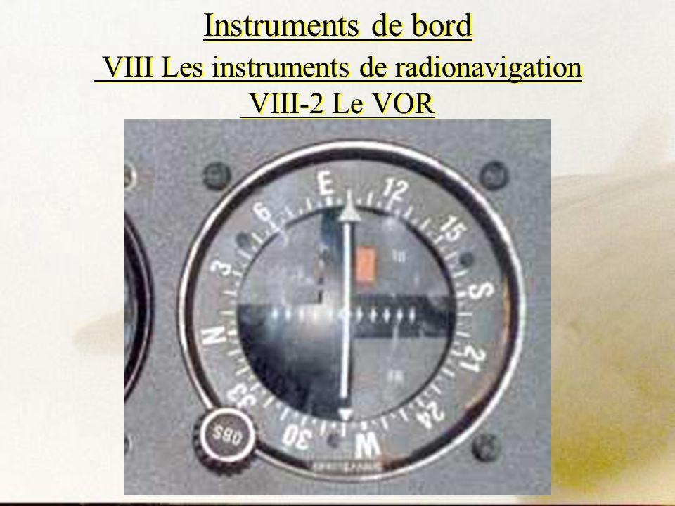 Instruments de bord VIII Les instruments de radionavigation VIII-2 Le VOR