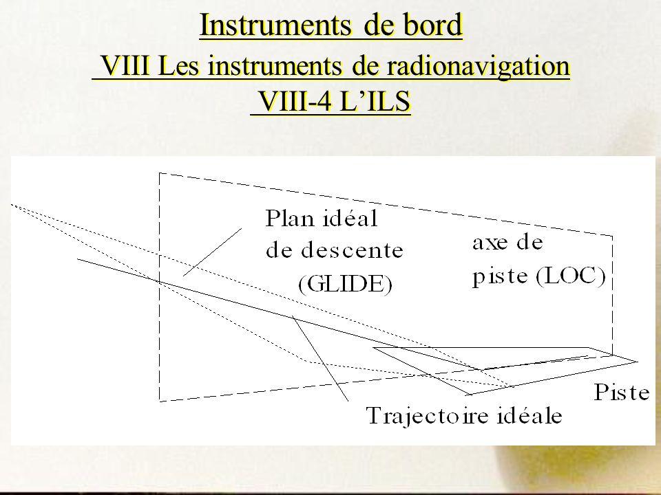Instruments de bord VIII Les instruments de radionavigation VIII-4 L'ILS