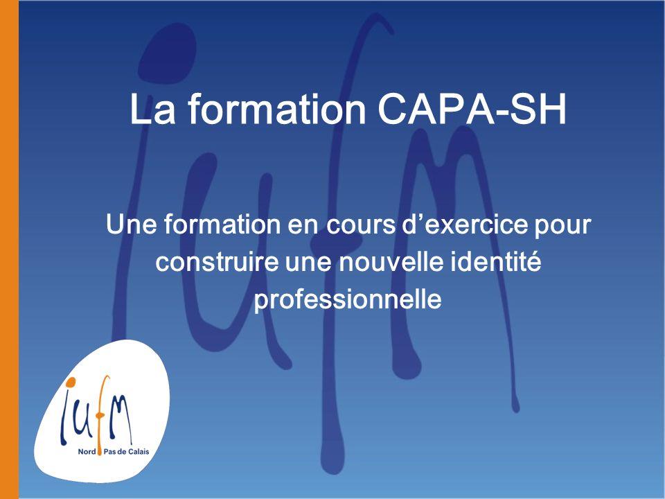 La formation CAPA-SH Une formation en cours d'exercice pour construire une nouvelle identité professionnelle.