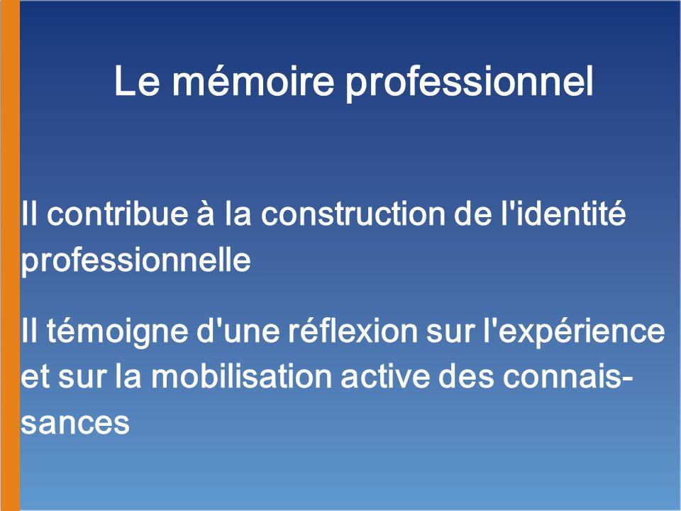 Le mémoire professionnel