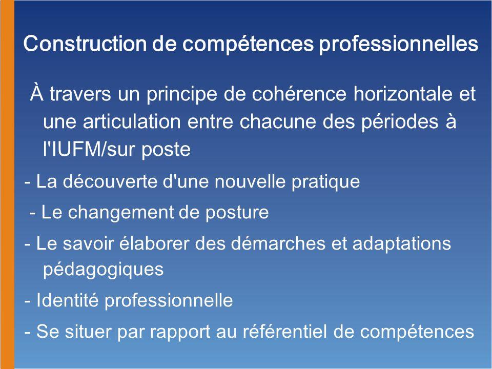 Construction de compétences professionnelles
