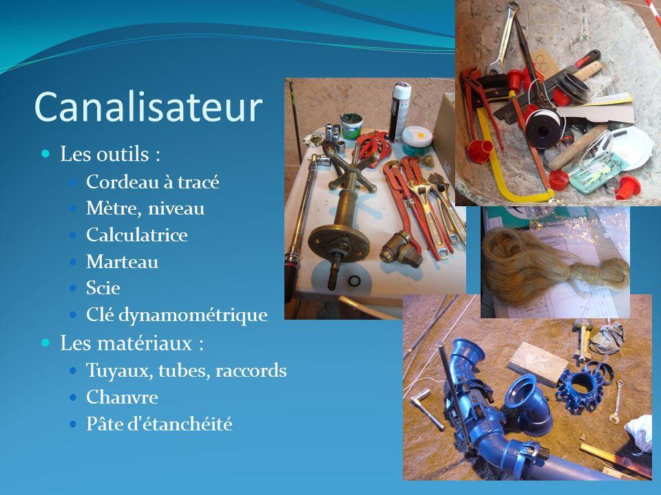 Canalisateur Les outils : Les matériaux : Cordeau à tracé
