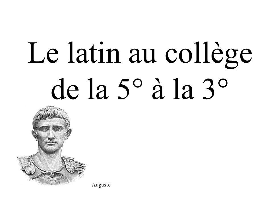 Le latin au collège de la 5° à la 3°
