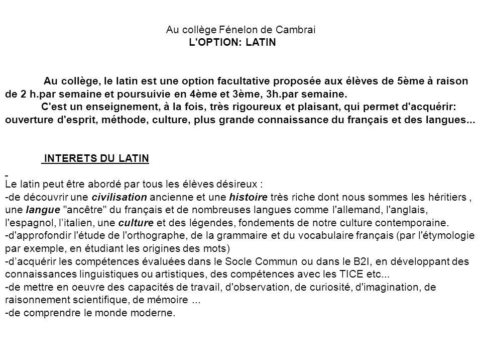 Au collège Fénelon de Cambrai