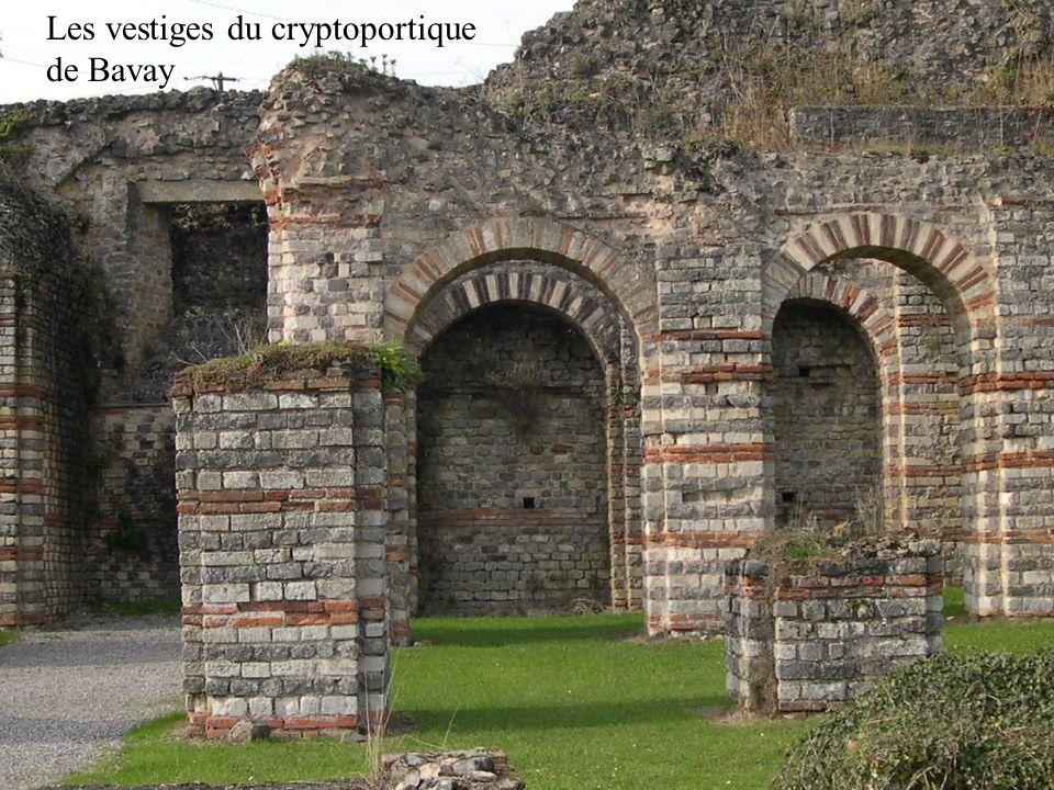 Les vestiges du cryptoportique de Bavay