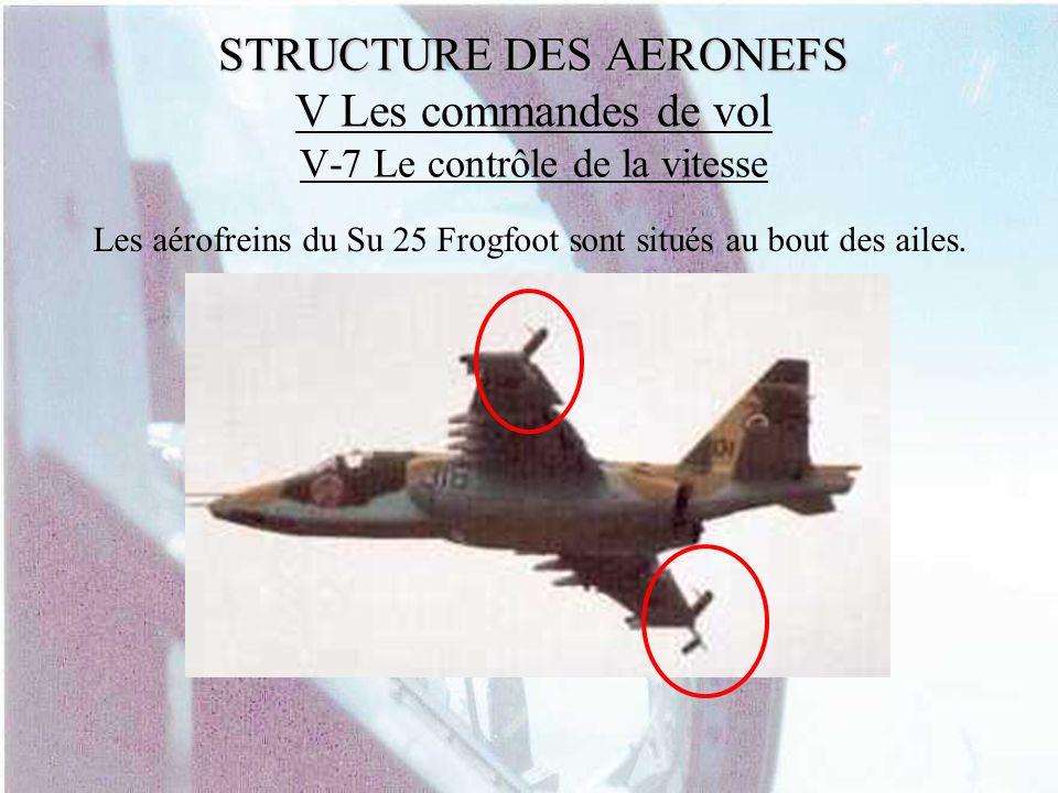 Les aérofreins du Su 25 Frogfoot sont situés au bout des ailes.