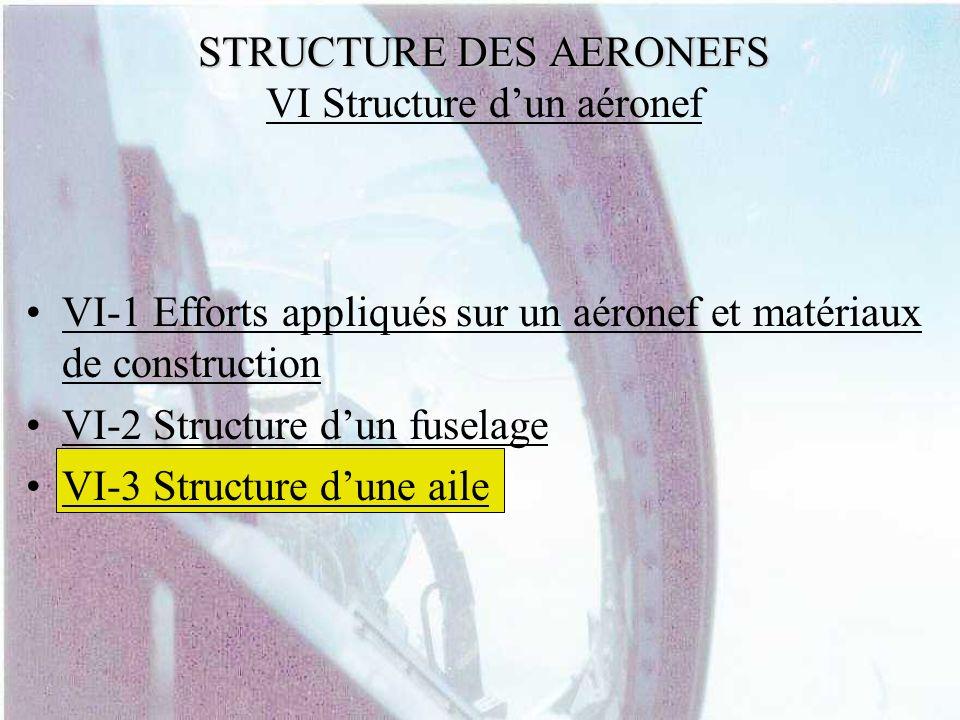 STRUCTURE DES AERONEFS VI Structure d'un aéronef