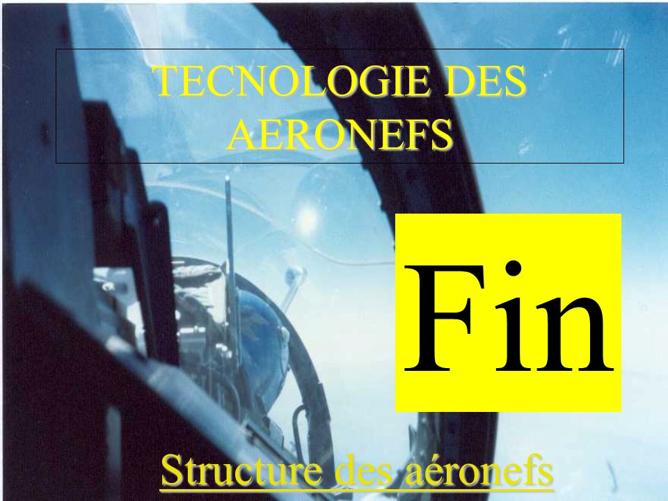 TECNOLOGIE DES AERONEFS