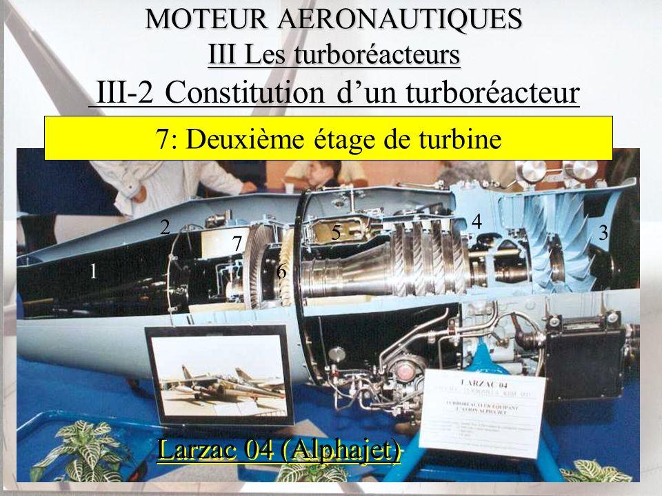 5: Chambre de combustion 6: Premier étage de turbine
