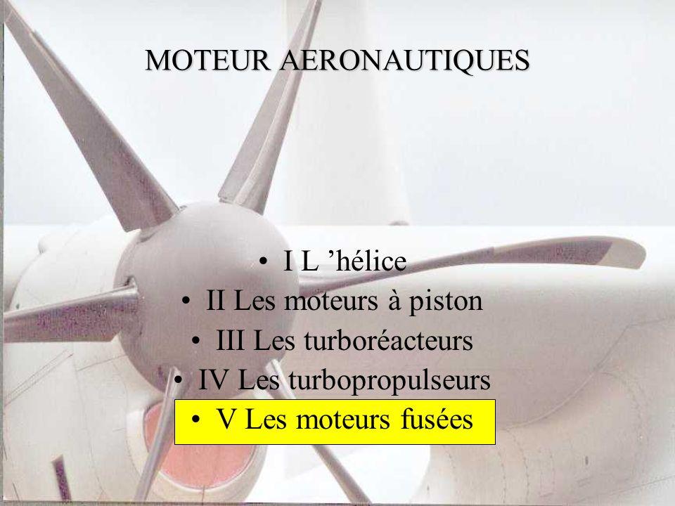 III Les turboréacteurs IV Les turbopropulseurs V Les moteurs fusées