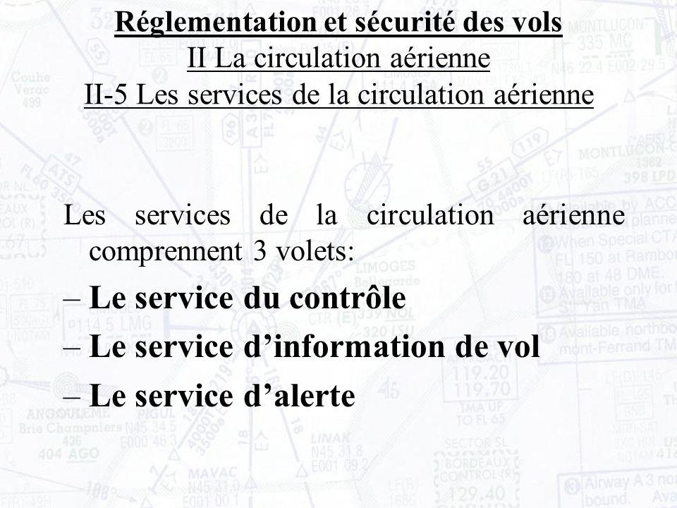 Le service d'information de vol Le service d'alerte