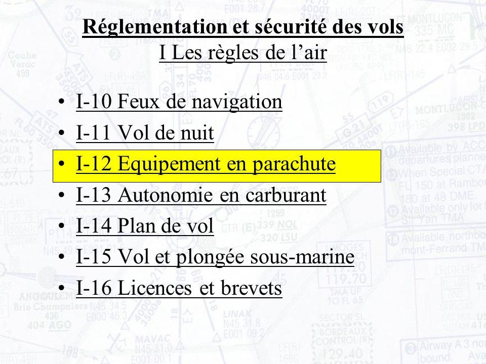 Réglementation et sécurité des vols I Les règles de l'air
